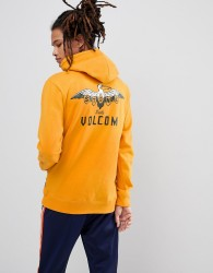 Volcom Hoodie With Pelican Back Print - Yellow