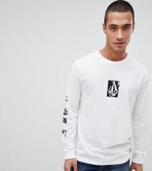Volcom long sleeve t shirt in white - White