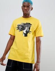 Volcom noa noise head print t-shirt in yellow - Yellow