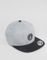 Volcom Quarter Twill Snapback With Small Logo - Grey