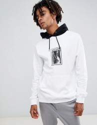 Volcom reload hoodie with print in white - White