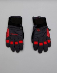 Volcom Snow Crail Gloves With Durable Grip Palm - Black