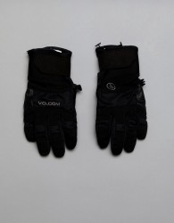 Volcom Snow Crail Gloves With Printed Durable Grip Palm - Black