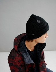 Volcom Snow Sweep Lined Beanie in Black - Black