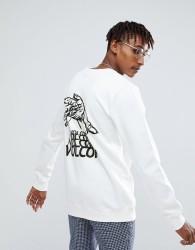 Volcom Sweatshirt With Back Print - White