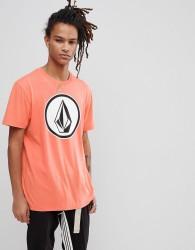Volcom T-Shirt With Large Logo In Salmon - Orange