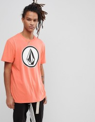 Volcom T-Shirt With Large Logo In Salmon - Orange