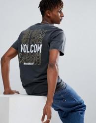 Volcom T-Shirt With Repeat Logo Back Print - Black