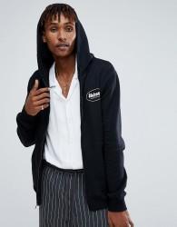 Volcom Zip Through Hoodie With Logo In Black - Black