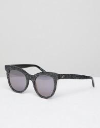 Vow London Sloane Cat Eye Sunglasses In Black - Black