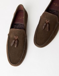 WALK London Ben loafers in brown suede - Brown