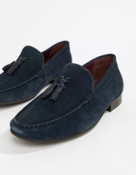 WALK London Ben loafers in navy suede - Navy
