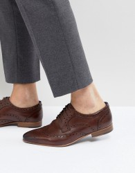 Walk London City Brogue Shoes In Brown - Brown