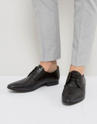 Walk London City Leather Derby Shoes - Black