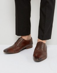 Walk London City Leather Oxford Shoes - Brown