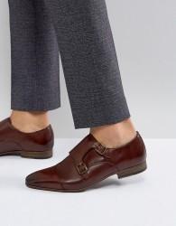 Walk London City Monk Strap Shoes In Brown - Brown