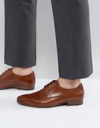 Walk London City Toe Cap Lace Up Shoes In Tan - Tan