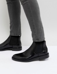 Walk London Darcy Leather Chelsea Boots In Black - Black