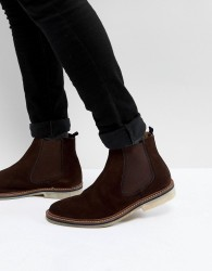 Walk London Darcy Suede Chelsea Boots In Brown - Brown