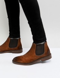 Walk London Darcy Suede Chelsea Boots In Tan - Tan