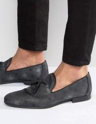 Walk London Hammersmith Tassel Loafers - Black