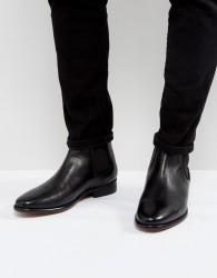 Walk London Harrington Leather Chelsea Boots - Black