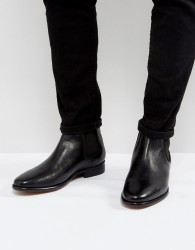 Walk London Harrington Leather Chelsea Boots - Black