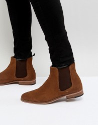 Walk London Harrington Suede Chelsea Boots in Tan - Tan