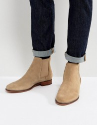 Walk London Harrington Suede Chelsea Boots - Stone