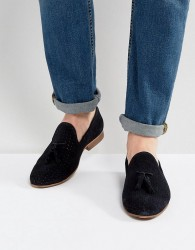 Walk London Harry Suede Tassel Loafers In Navy - Navy