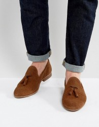 Walk London Harry Suede Tassel Loafers In Tan - Tan