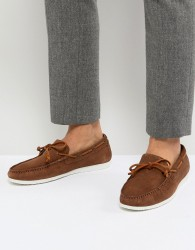 Walk London Henley Suede Tassel Loafers in Tan - Tan