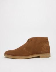 WALK London Hornchurch chukka boots in tan suede - Tan
