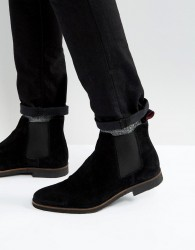 Walk London Hornchurch Suede Chelsea Boots - Black