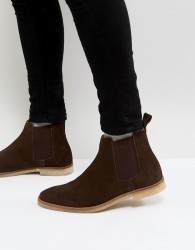 Walk London Hornchurch Suede Chelsea Boots - Brown