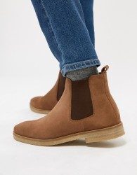 Walk London Hornchurch Suede Chelsea Boots In Tan - Tan
