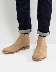Walk London Hornchurch Suede Chelsea Boots - Stone