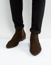 Walk London Mark Suede Chelsea Boots - Brown