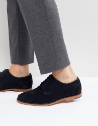 Walk London Paul Suede Lace Up Shoes In Navy - Navy