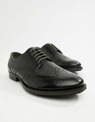 WALK London Samuel brogues in black etched - Black