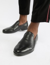 WALK London Study studded loafers in black leather - Black