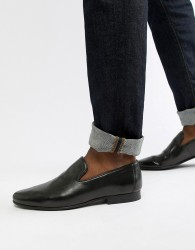 WALK London Study texture loafers in black leather - Black