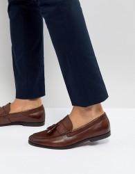 Walk London Tassel Leather Loafers In Brown - Brown