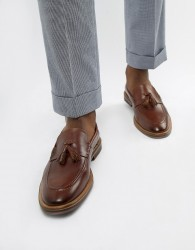 WALK London West tassel loafers in brown leather - Brown