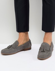 Walk London Will Suede Tassel Loafers In Grey - Grey