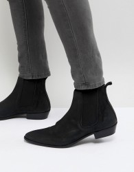 Walk London Ziggy Leather Chelsea Boots In Black - Black
