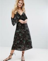 Walter Baker Eleanor Dress in Desert Bloom - Black
