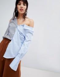 Walter Baker Mixed Stripe Shirt - Blue