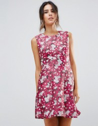 Warehouse Aster Floral Jacquard Dress - Multi