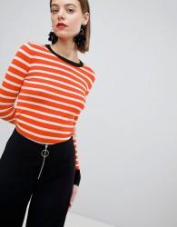 Warehouse Barbican Collection Bretton Stripe Jumper - Orange